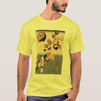 Katter som bildar teckenen för havskatt tee shirts