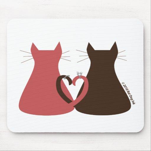 Katter som gifta sig musen, vadderar mus matta