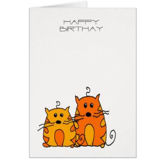 Kattfödelsedagkort - Squiggles kattfödelsedagbilen Hälsningskort