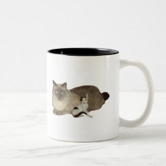 Kattkompisar Två-Tonad Mugg
