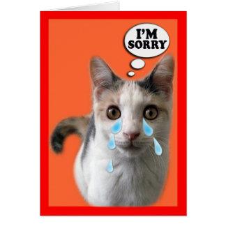 Kattkort, ledsen I-förmiddag Hälsningskort