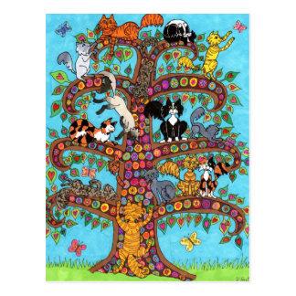 Kattlivets träd 2 vykort