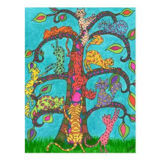 Kattlivets träd vykort