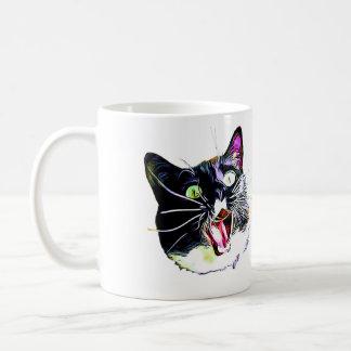"""KattMuggen """"kom jag, mig sågar, I FRAZZED """", Kaffemugg"""