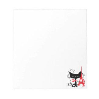 Kattsilhouette i frankriken anteckningsblock