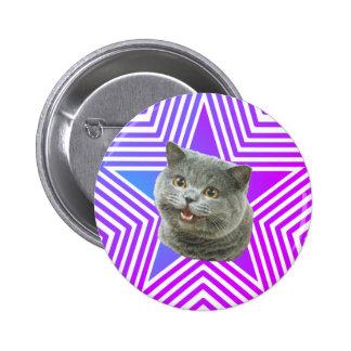 Kattstjärnan knäppas standard knapp rund 5.7 cm