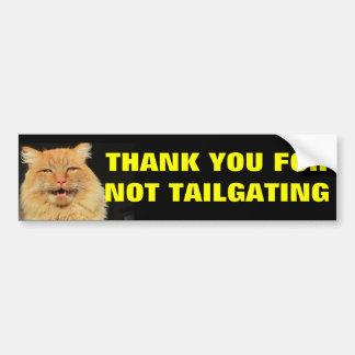 Katttack dig för inte tailgating bildekal