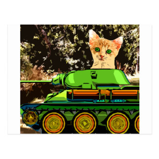 Kattunge i tanken vykort