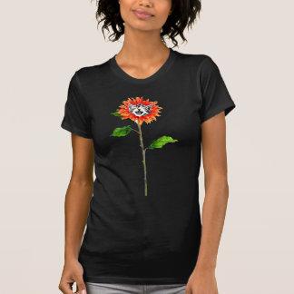 Kattunge som blommar från blomma t-shirt