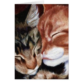 Kattungekyssar Hälsningskort