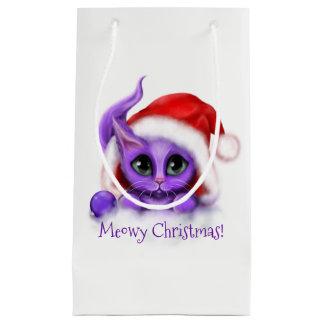KattungeMeowy för helgdag purpurfärgad jul