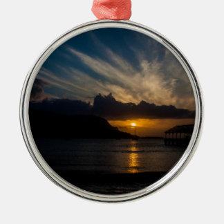 Kauai solnedgång julgransprydnad metall