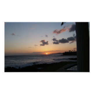 Kauai solnedgång poster