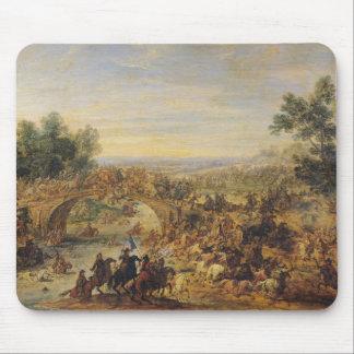 Kavalleri slåss på en överbrygga musmatta