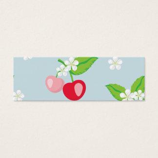 kawai körsbär, gulligt som är moderiktigt, litet visitkort