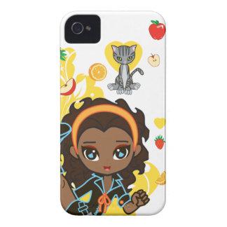 Kawaii Aisha afrikansk amerikan Chibi 9700/9780 Case-Mate iPhone 4 Case