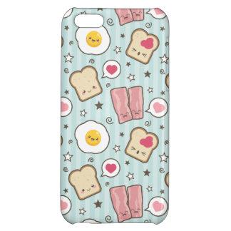 Kawaii bacon & stekt ägg Deconstructed smörgås iPhone 5C Skydd