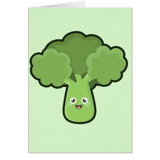 Kawaii broccoli hälsningskort