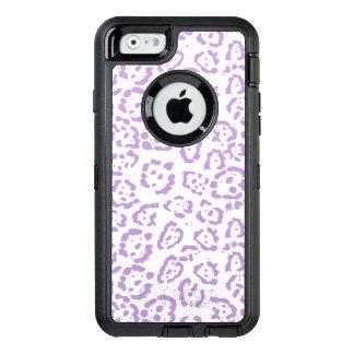 Kawaii för pastellfärgad purpurfärgad Leopard OtterBox Defender iPhone Skal