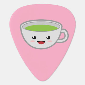 Kawaii grön Tea Plektrum