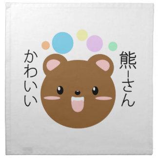 Kawaii/gullig björn tygservett
