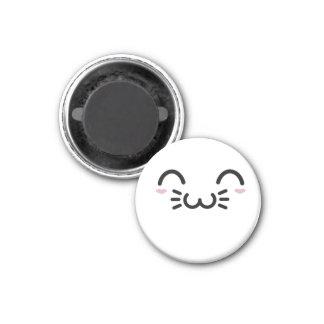 Kawaii gulligt ansikte magnet