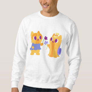 Kawaii hundbästa vän eller valpkärlek Yorkies Sweatshirt