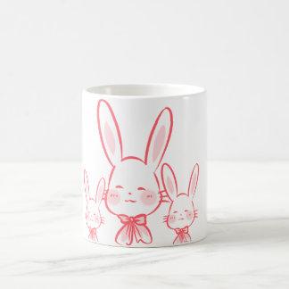 Kawaii kopp med kaniner