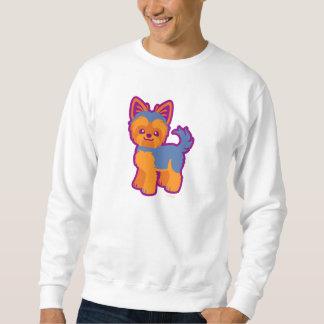 Kawaii kort hårYorkie tecknad hund Sweatshirt