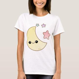 Kawaii måne- och stjärnadesign t shirts