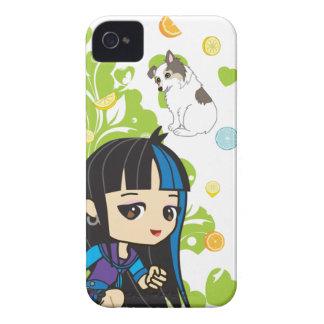 Kawaii Mika den Punk flickan Chibi 9700/9780 Case-Mate iPhone 4 Skydd