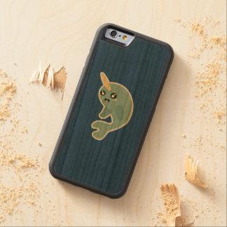 Kawaii Narwhal Carved Körsbär iPhone 6 Bumper Skal