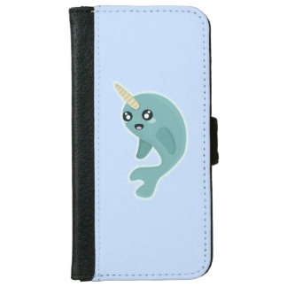 Kawaii Narwhal iPhone 6/6s Plånboksfodral