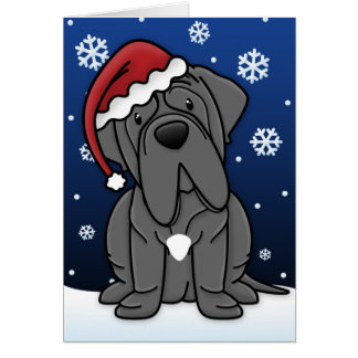 Kawaii Neapolitan Mastiffjulkort Hälsningskort