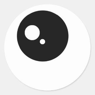 Kawaii ögaklistermärkear runda klistermärken