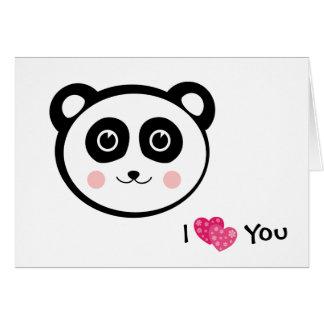 Kawaii Panda Hälsningskort