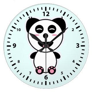 Kawaii Panda Stor Klocka