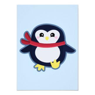 Kawaii pingvin 12,7 x 17,8 cm inbjudningskort