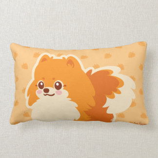 Kawaii Pomeranian tecknad hund Prydnadskuddar