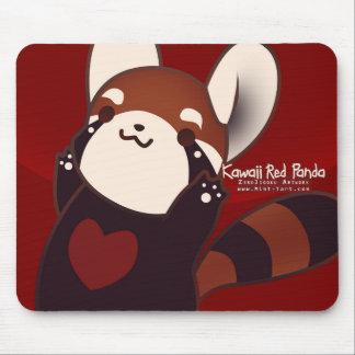 Kawaii röd Panda Mousepad Musmatta