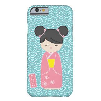 Kawaii rosor Kokeshi Barely There iPhone 6 Skal