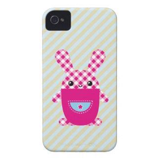 Kawaii rutig kanin iPhone 4 Case-Mate fodraler