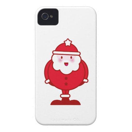 Kawaii Santa iPhone 4 Case-Mate Fodraler