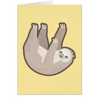 Kawaii Sloth Hälsningskort