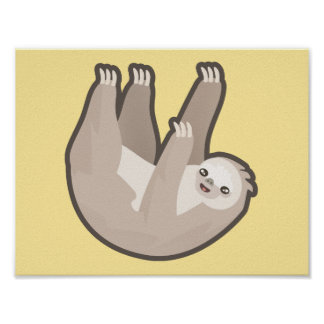 Kawaii Sloth Poster