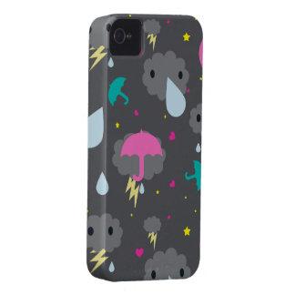 Kawaii stormig molnblackberry fodral Case-Mate iPhone 4 case