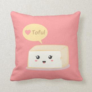 Kawaii tofu som frågar folk att älska tofuen kudde