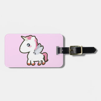 Kawaii Unicorn Bagagebricka