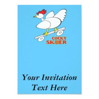 Kaxig skater 12,7 x 17,8 cm inbjudningskort