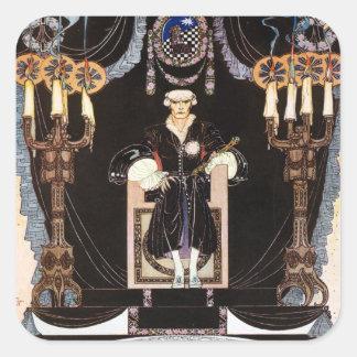 Kay NIelsens mörk nordisk Prince Fyrkantigt Klistermärke